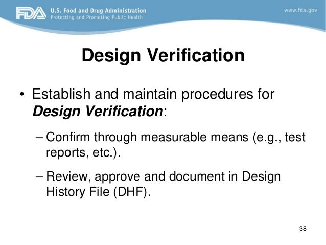 Design control FDA requirements