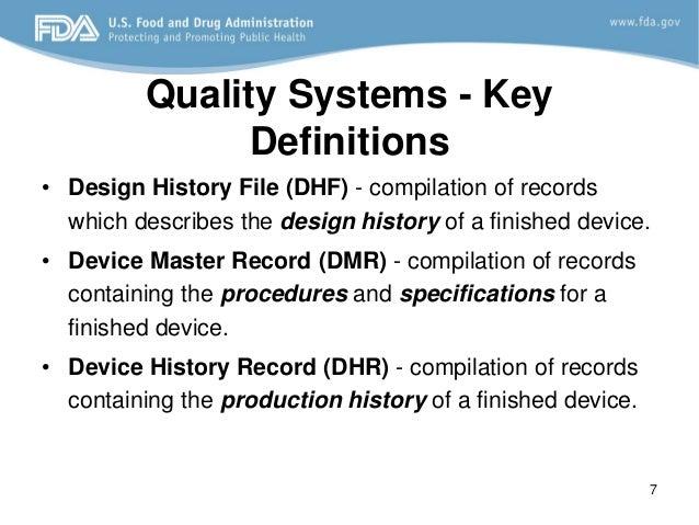 design control fda requirements