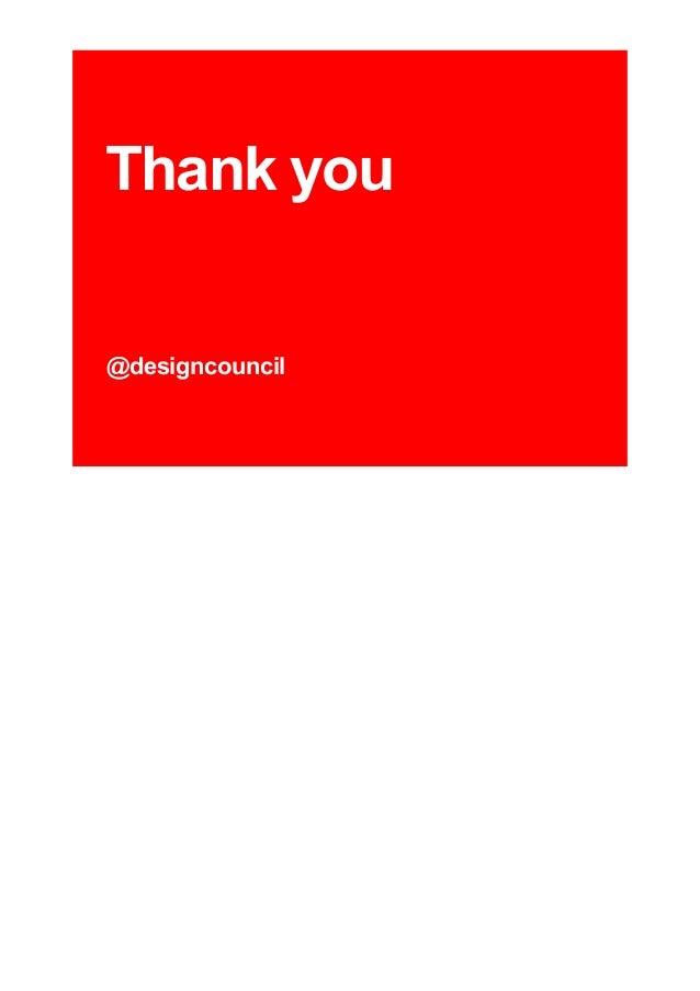Thank you @designcouncil