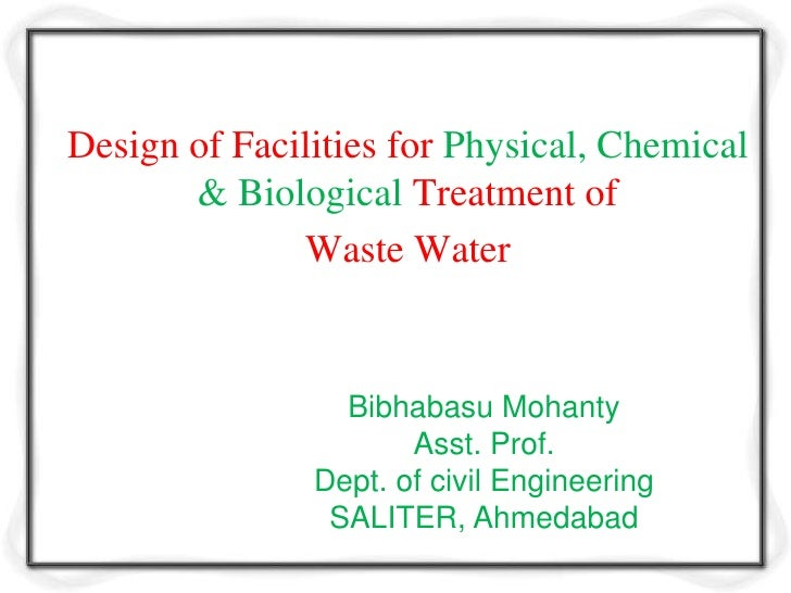 Design Criteria For Waste Water Treatment