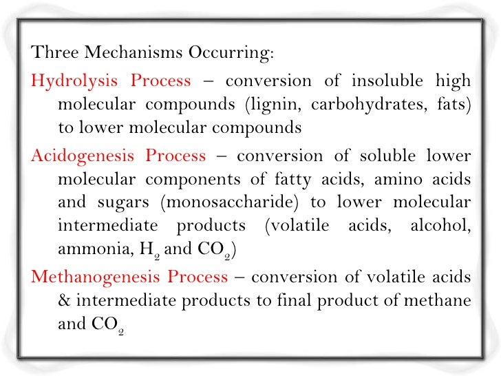 Three Mechanisms Occurring:Hydrolysis Process – conversion of insoluble high   molecular compounds (lignin, carbohydrates,...