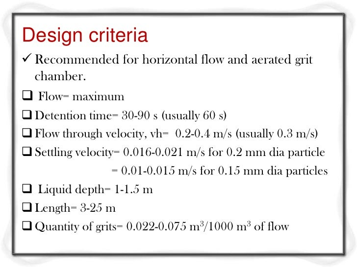 Where:g= acceleration due to gravity (assume 9.81 m/s2)ρw= density of water (1000 Kg/m3)ρs= density of solid particles (no...