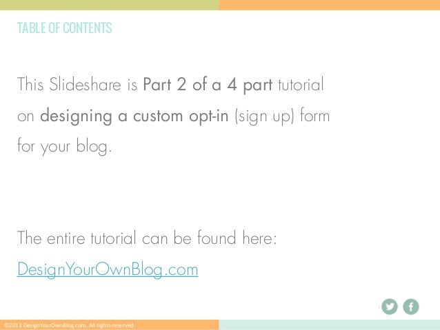 How to Design a Custom Opt-in form without a Plugin // Part 2 Slide 3
