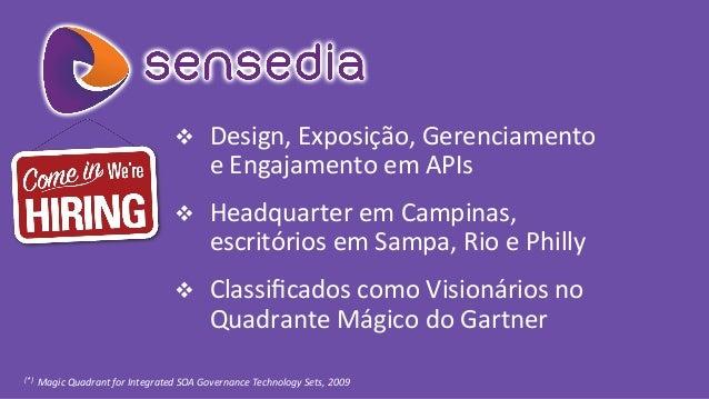 v Design,  Exposição,  Gerenciamento     e  Engajamento  em  APIs   v Headquarter  em  Campinas, ...