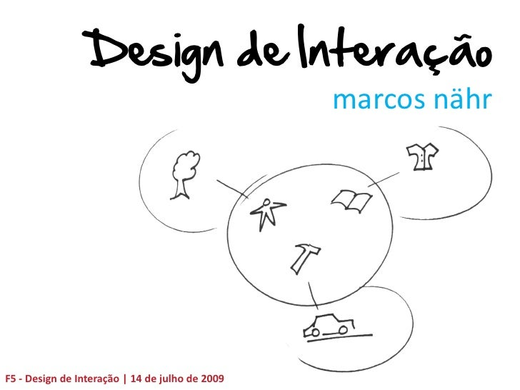 Design de Interação                                                  marcos nähr     F5 - Design de Interação | 14 de julh...