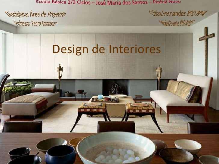 Design de interiores for Curso de design de interiores no exterior