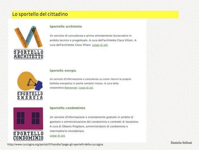 """Lo sportello del cittadino 3,+%""""1,'!""""110+%:http://www.cuccagna.org/portal/IT/handle/?page=gli-sportelli-della-cuccagna"""