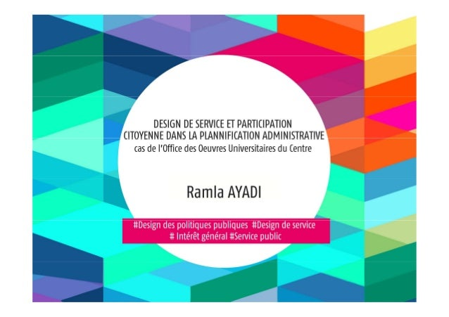 Design de service et participation cityoenne dans la planification administrative