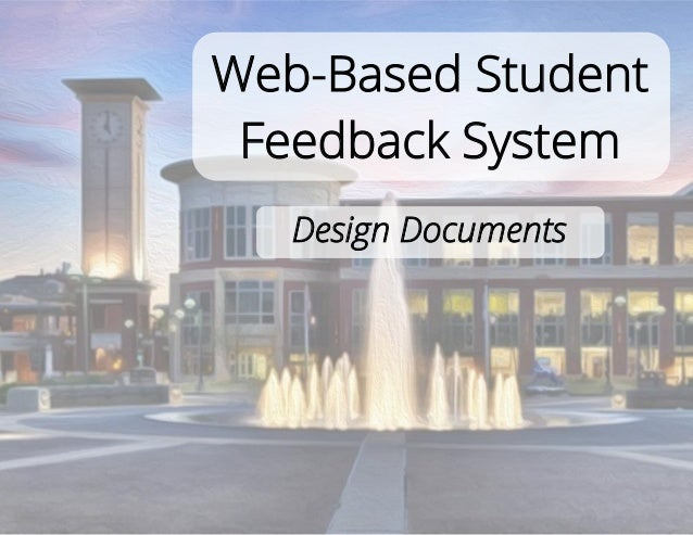 Classroom Based Web Design Course ~ U of m web based student feedback system design documents