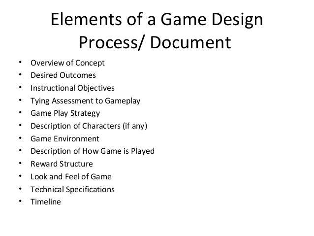 Creating A Game Design Document - Board game design document