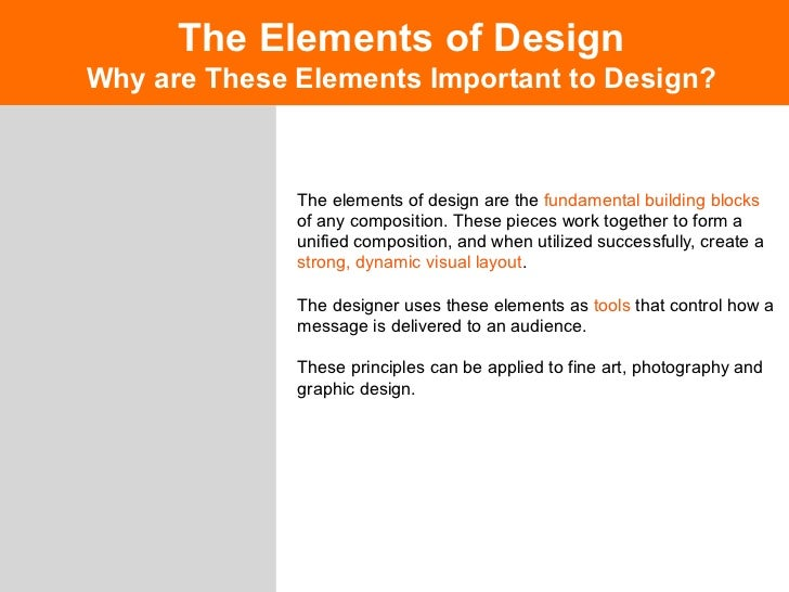 The Elements Of Design LineLine One Most Important