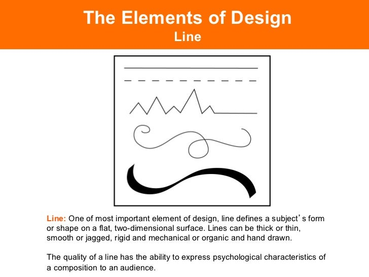 Elements Of Design Line : Elements of design