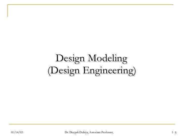 Design Modeling  (Design Engineering)