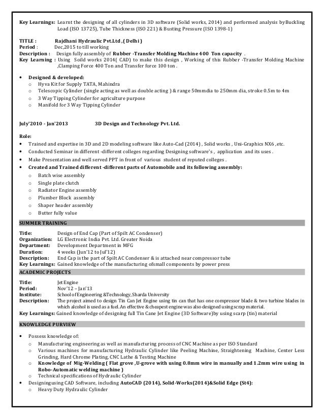 Design engineer resume with 5.9 year professional experience 1