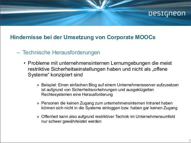 Strategische MOOC Partnerschaften (Learntec 2014, Open Space) Slide 2