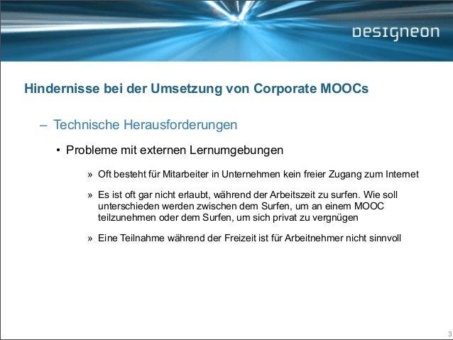Strategische MOOC Partnerschaften (Learntec 2014, Open Space) Slide 3
