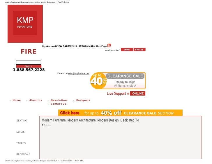 modern furniture,modern architecture, modern interior design news - Fire Collection                                       ...