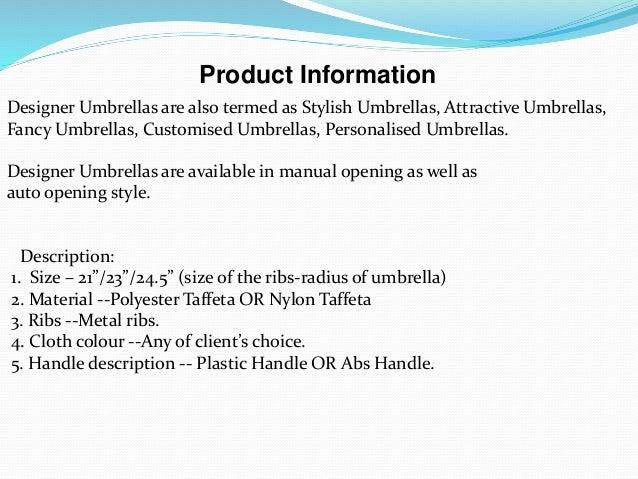 Designer umbrellas Slide 3