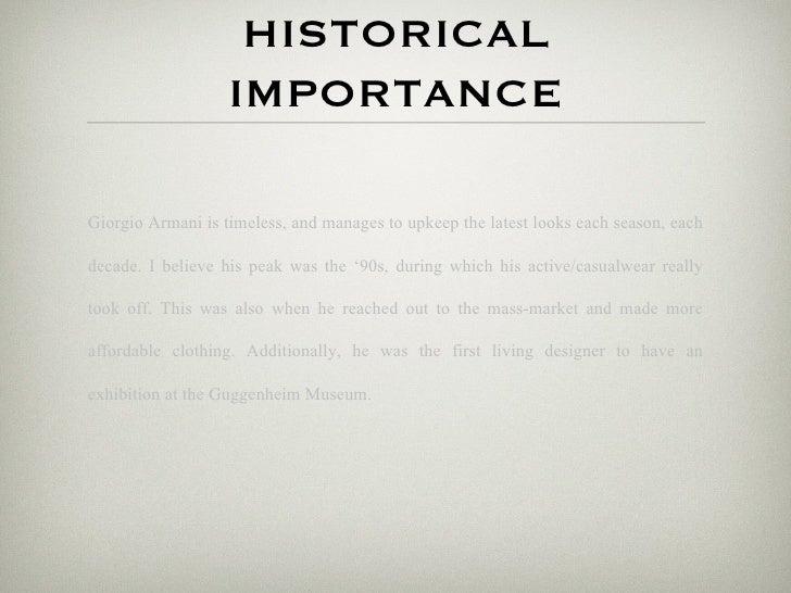b81dadb8ce43 11. HISTORICAL IMPORTANCEGiorgio Armani ...