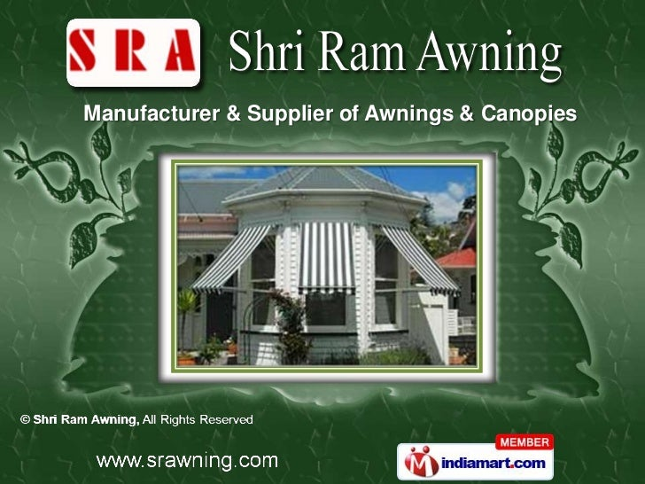 Designer Awnings By Shri Ram Awning Delhi