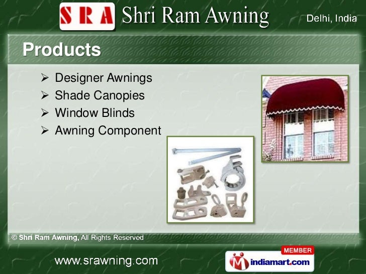 Distribution Network 4 Products Designer Awnings