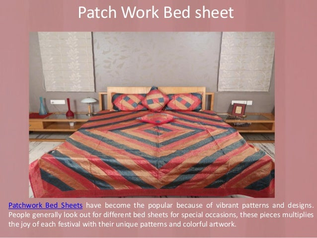 ... Personality; 3. Patch Work Bed Sheet ...
