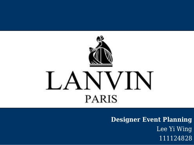 Designer Event Planning Lee Yi Wing 111124828