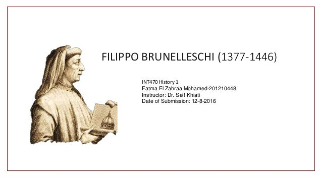 filippo brunelleschi education