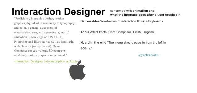 ... Designer Job Description At Google @yorkerhodes; 4.