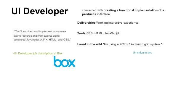 Ui Developer Job Description | Resume CV Cover Letter