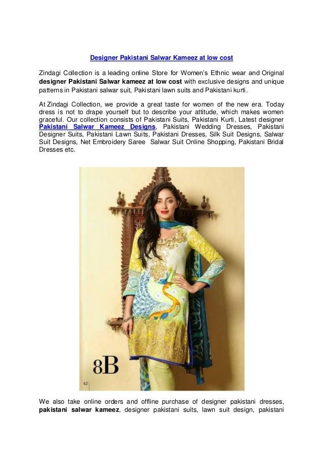dfb390b3e5 Designer Pakistani Salwar Kameez at best price