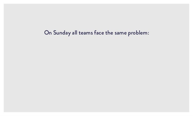 On Sunday all teams face the same problem: