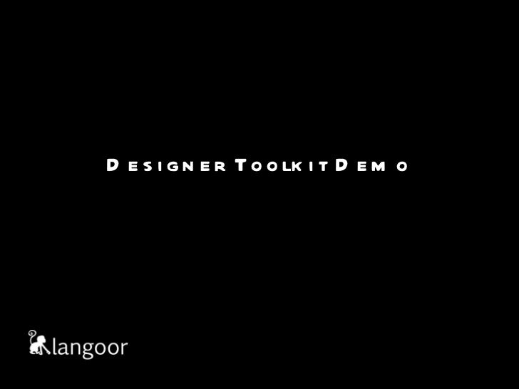 Designer toolkit demo