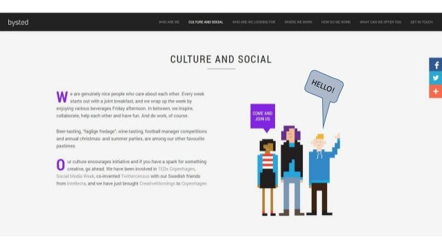 bysted ' CULTURE AND SOClAL     CULTURE AND SOCIAL  I-h  w e are genuinely nice people who care about each other Every wee...