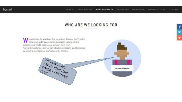 bysted  WHO ARE WE LOOKING FOR  WHO ARE WE LOOKING FOR  w e are looking for a designer But notiust any designer You'll nee...