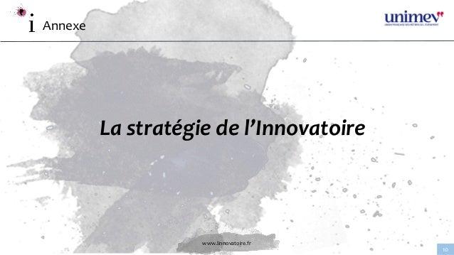 www.linnovatoire.fr 10 Annexe La stratégie de l'Innovatoire