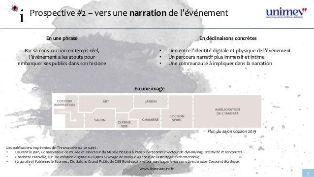www.linnovatoire.fr 5 Prospective #2 – vers une narration de l'événement En une phrase Par sa construction en temps réel, ...