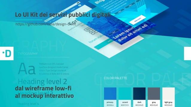 2. L'iniziativa: nasce lo UI kit dei servizi pubblici. Lo UI Kit dei servizi pubblici digitali https://github.com/italia/d...