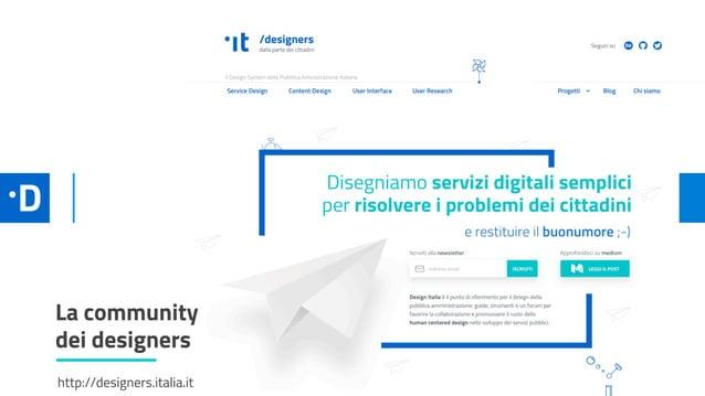 HOME DEL SITO La community dei designers http://designers.italia.it