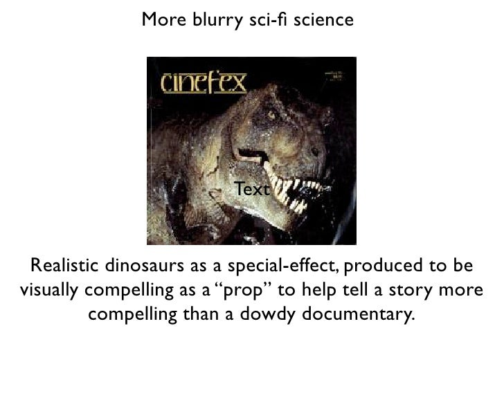 More blurry sci-fi science