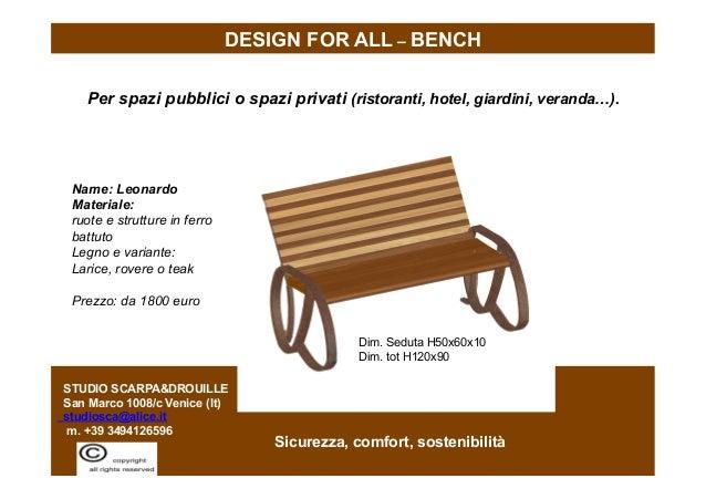 © Murielle Drouille-Scarpa STUDIO SCARPA&DROUILLE San Marco 1008/c Venice (It) studiosca@alice.it m. +39 3494126596 Per sp...