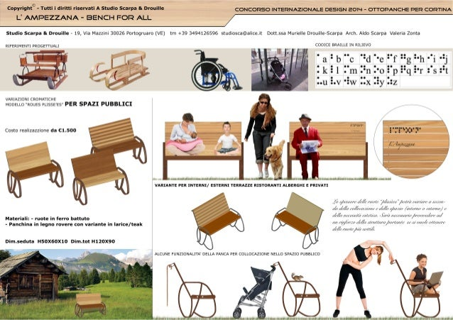 Design for all bench  - panchina