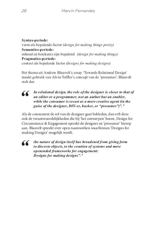 Design for circumstance engagement essay Marvin Fernandes