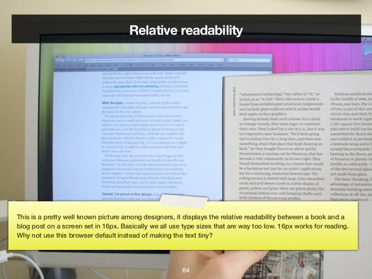 relative readabilitythis is a pretty