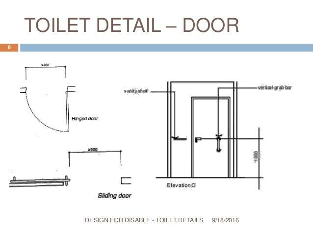 ... TOILET DETAILS; 8.  sc 1 st  SlideShare & Design for disable u2013 toilet details