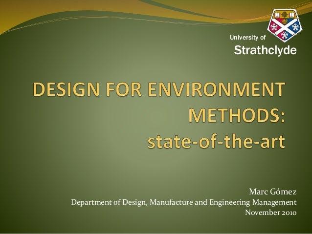 Marc Gómez Department of Design, Manufacture and Engineering Management November 2010 University of Strathclyde
