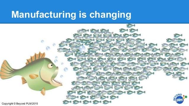 Manufacturing is changing Copyright © Beyond PLM 2015