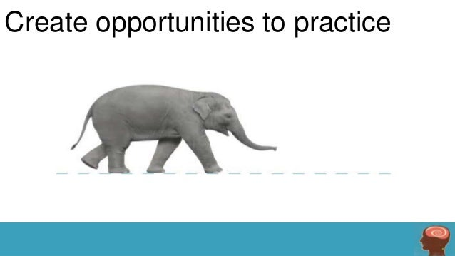 Create opportunities to practice