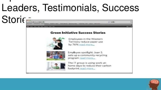 Leaders, Testimonials, Success Stories