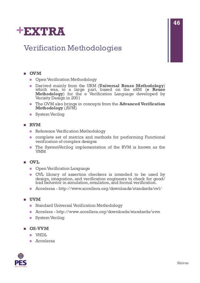1Sem-MTech-Design For Verification Notes-Unit2-Verification